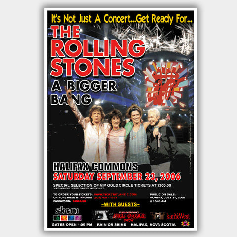 Rolling Stones with Alice Cooper (2006) - Concert Poster - 13 x 19 inches
