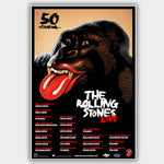 Rolling Stones (2013) - Concert Poster - 13 x 19 inches