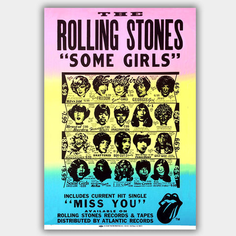Rolling Stones - Concert Poster - 13 x 19 inches
