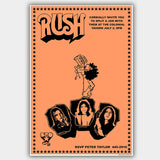 Rush (1974) - Concert Poster - 13 x 19 inches