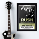 Rush with Max Webster (1980) - Concert Poster - 13 x 19 inches