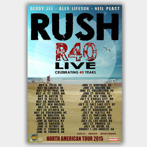 Rush  (2015) - Concert Poster - 13 x 19 inches