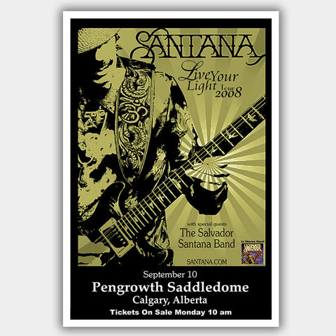 Santana (2008) - Concert Poster - 13 x 19 inches