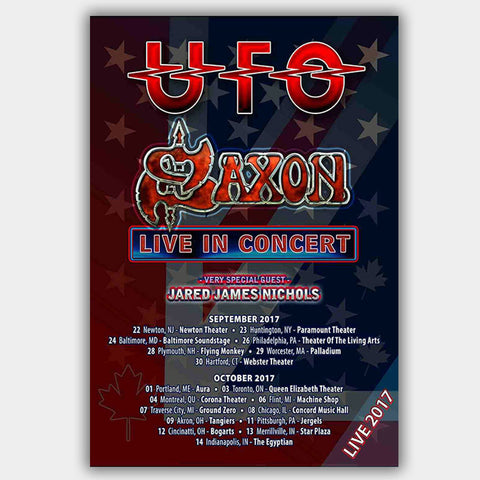 Saxon with Jared James Nichols (2017) - Concert Poster - 13 x 19 inches