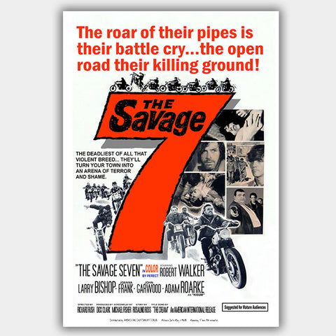 Savage Seven (1968) - Movie Poster - 13 x 19 inches