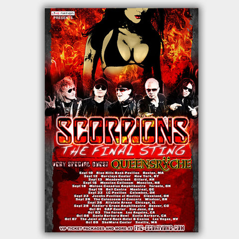 The Scorpions (2015) - Concert Poster - 13 x 19 inches