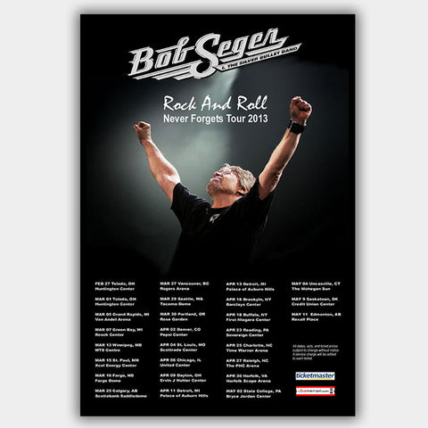 Bob Seger (2013) - Concert Poster - 13 x 19 inches