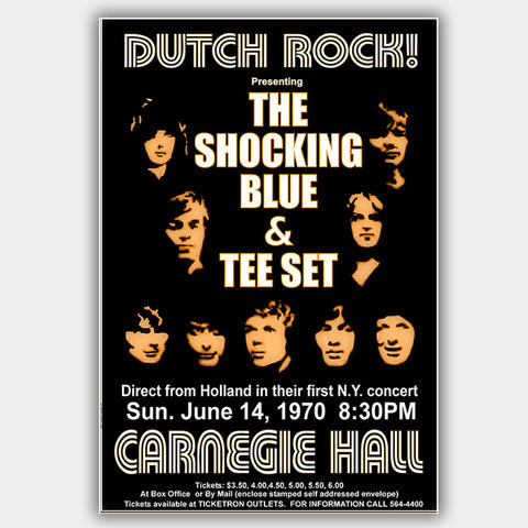 Shocking Blue with The Tee Set (1970) - Concert Poster - 13 x 19 inches