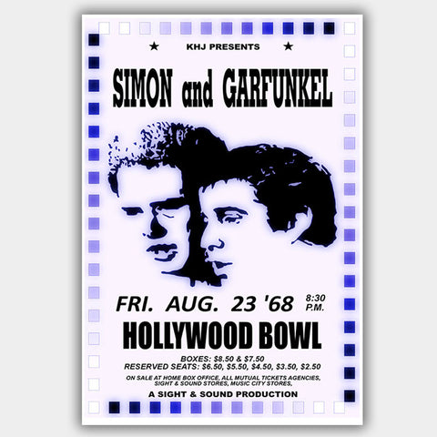 Simon & Garfunkel (1968) - Concert Poster - 13 x 19 inches