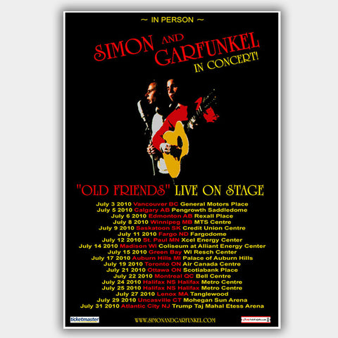 Simon & Garfunkel (2010) - Concert Poster - 13 x 19 inches