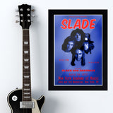 Slade with Black Oak Arkan (1973) - Concert Poster - 13 x 19 inches