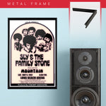 Sly & Family Stone with Mountain (1967) - Concert Poster - 13 x 19 inches