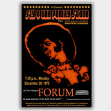 Sly & Family Stone with Bloodrock (1970) - Concert Poster - 13 x 19 inches