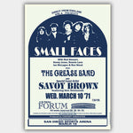Small Faces with Savoy Brown (1971) - Concert Poster - 13 x 19 inches