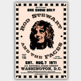 Rod & Faces Stewart with The Grin (1971) - Concert Poster - 13 x 19 inches
