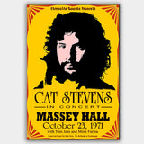 Cat Stevens with Tom Jans & Mimi Farina (1971) - Concert Poster - 13 x 19 inches