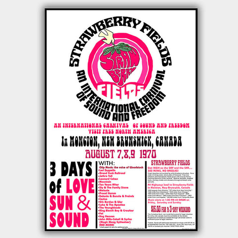 Strawberry Fields Fest (1970) - Concert Poster - 13 x 19 inches