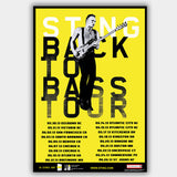 Sting (2013) - Concert Poster - 13 x 19 inches