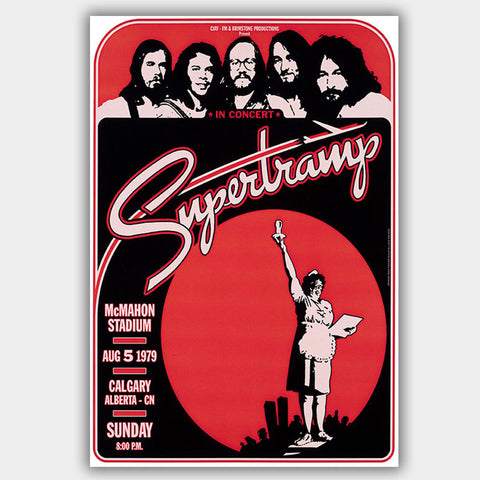 Supertramp (1979) - Concert Poster - 13 x 19 inches