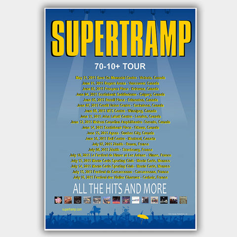 Supertramp (2011) - Concert Poster - 13 x 19 inches