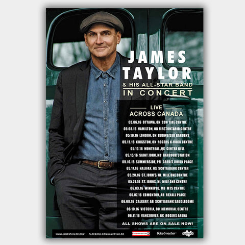 James Taylor (2016) - Concert Poster - 13 x 19 inches