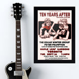 Ten Years After with Edgar Winter (1972) - Concert Poster - 13 x 19 inches