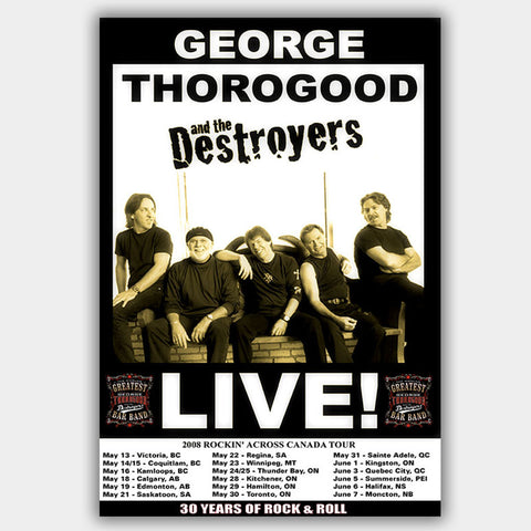 George Thorogood (2008) - Concert Poster - 13 x 19 inches