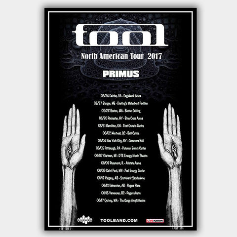 Tool with Primus (2017) - Concert Poster - 13 x 19 inches