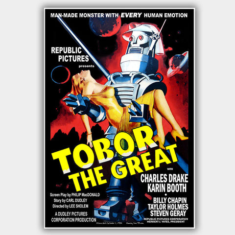 Tobor The Great (1954) - Movie Poster - 13 x 19 inches