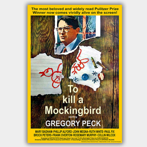 To Kill A Mockingbird (1962) - Movie Poster - 13 x 19 inches