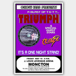 Triumph with Teaze (1978) - Concert Poster - 13 x 19 inches
