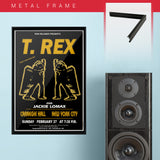 T Rex with Jackie Lomax - Gold (1972) - Concert Poster - 13 x 19 inches