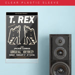 T Rex with Jackie Lomax - White (1972) - Concert Poster - 13 x 19 inches