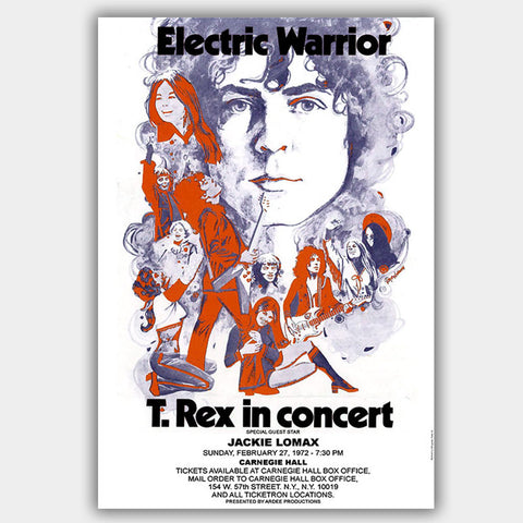 T Rex with Jackie Lomax (1972) - Concert Poster - 13 x 19 inches