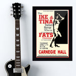 Ike & Tina Turner with Fats Domino (1971) - Concert Poster - 13 x 19 inches