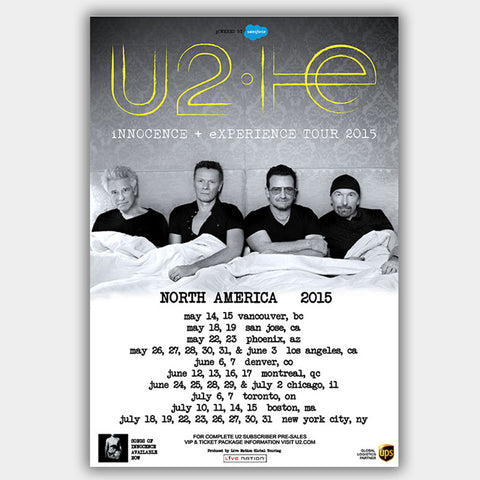 U2 (2015) - Concert Poster - 13 x 19 inches