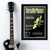 Stevie Ray Vaughan with The Stray Cats (1989) - Concert Poster - 13 x 19 inches