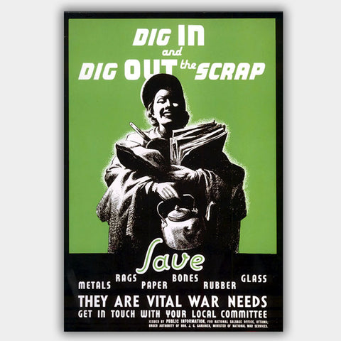 War Poster - Scraps - 13 x 19 inches