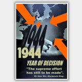War Poster - Year Of Decision (1942) - 13 x 19 inches
