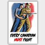 Every Canadian - War Poster - 13 x 19 inches