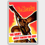 War Poster - Be Ready - 13 x 19 inches