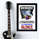 War Poster - Silence - 13 x 19 inches