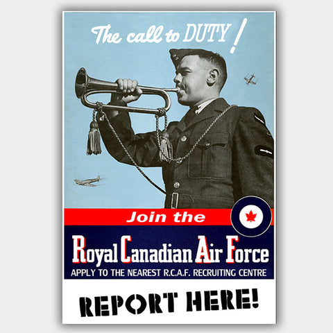 "RCAF - ""Duty"" - War Poster - 13 x 19 inches"