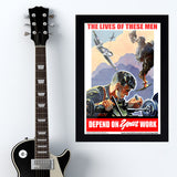 Work - War Poster - 13 x 19 inches