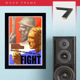 War Poster - Fight - 13 x 19 inches