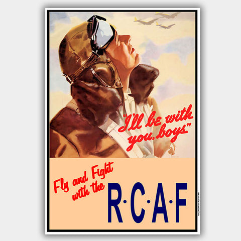 "War Poster - RCAF - ""Flight: - 13 x 19 inches"