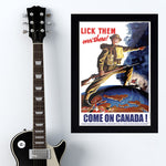 Lick Them - War Poster - 13 x 19 inches