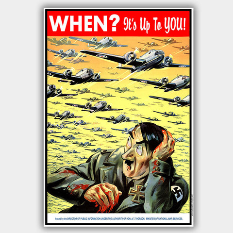 War Poster - Hitler - 13 x 19 inches