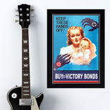 "War Poster - Victory Bonds - ""Hands Off"" - 13 x 19 inches"