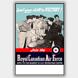 "RCAF - ""Victory"" - War Poster - 13 x 19 inches"